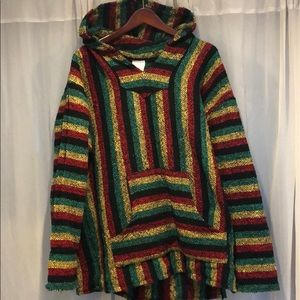 Baja Rasta Hoodie Drug Rug Poncho - XXL - as new